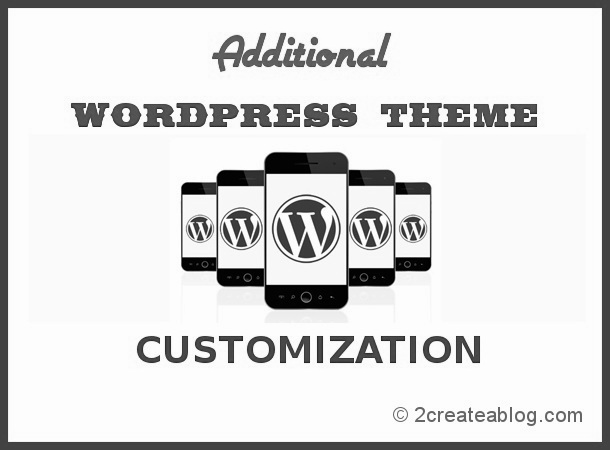Additional WordPress Theme Customizations