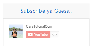 √ KEREN! Cara Membuat Tombol Subscribe Youtube di Blog