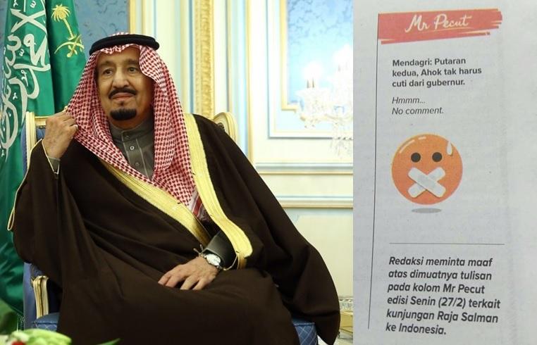 Jawa Pos minta maaf soal Raja Salman