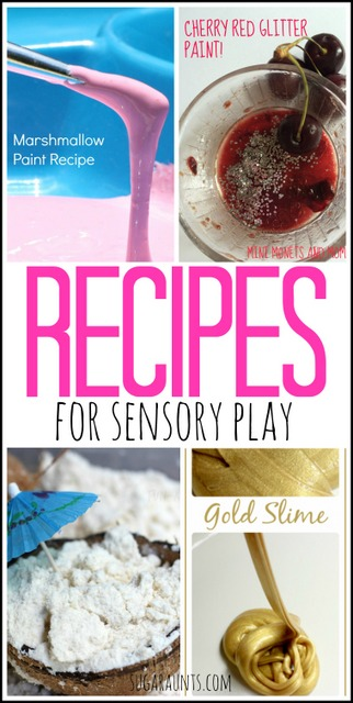 Recipes for play dough, paint, slime, cloud dough and more