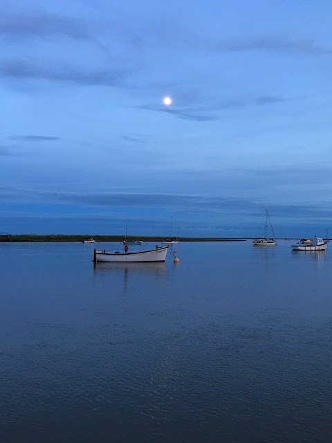 calm sea at dusk Orford, UK