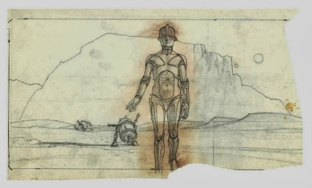 original c3po design sketch