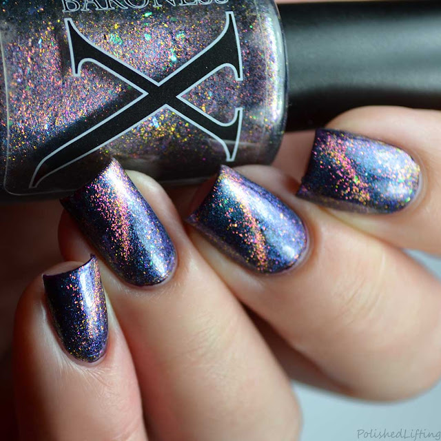 matnetic flakie cat eye color shifting nail polish