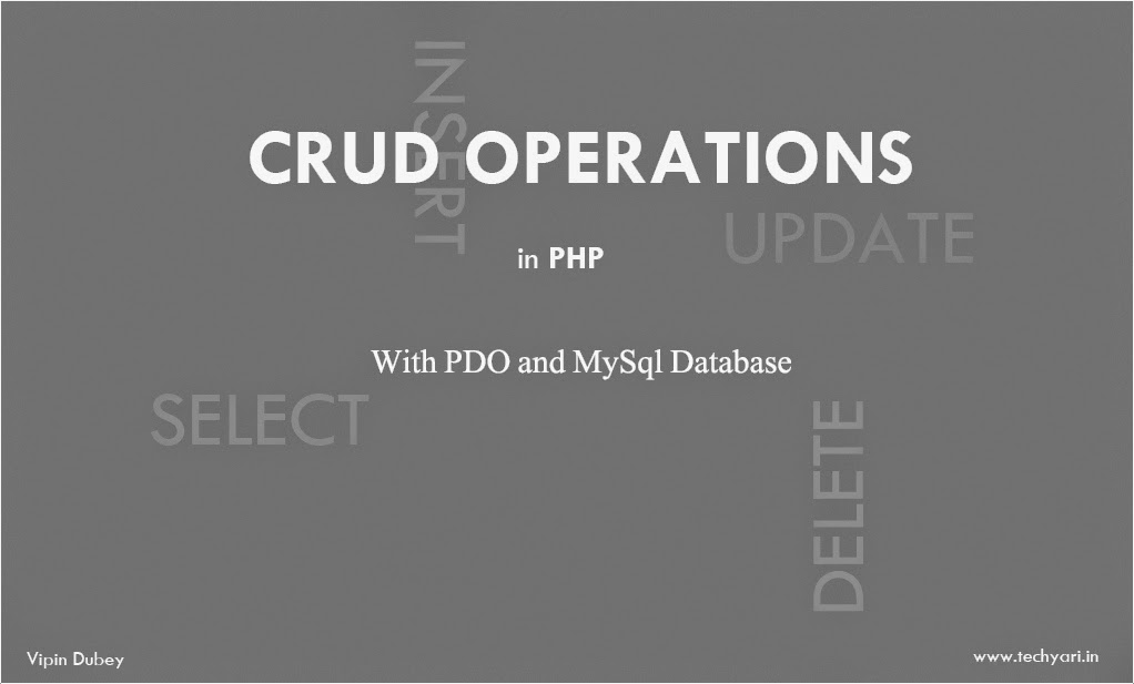 crud in php with pdo and mysql