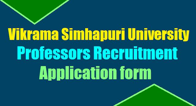 sikrama simhapuri university associate assistant professors recruitment 2017,vsu professors recruitment application form,vsu professors selection list results