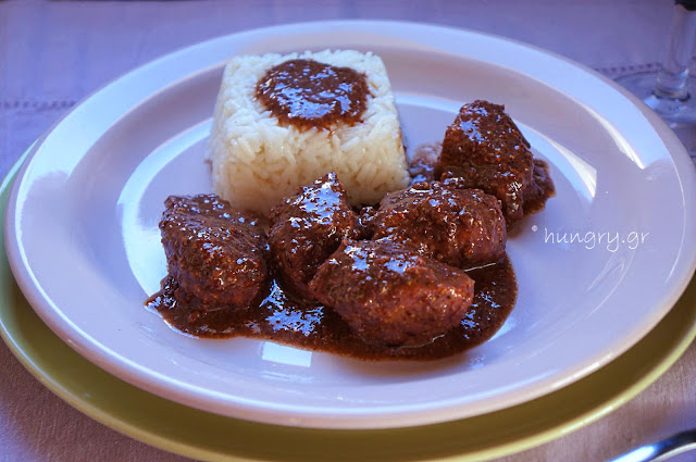 Pork Chunks in Red Wine