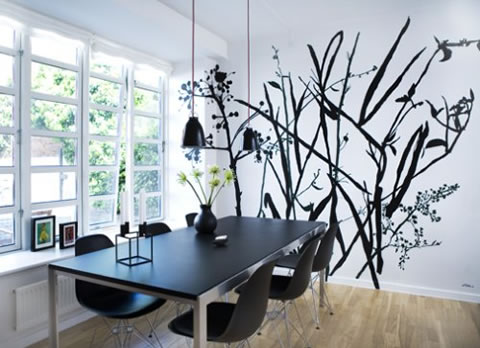 Arte y arquitectura dibujos para decorar paredes - Decoracion pared comedor ...