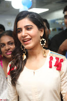 Samantha Ruth Prabhu Smiling Beauty in White Dress Launches VCare Clinic 15 June 2017 032.JPG