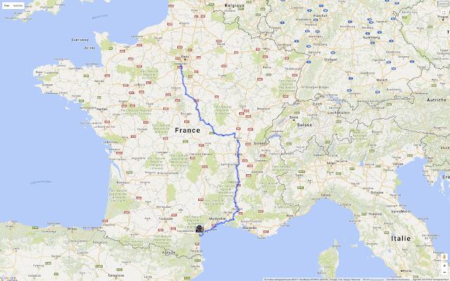 De Paris à Narbonne en vélo, Geo Tracker