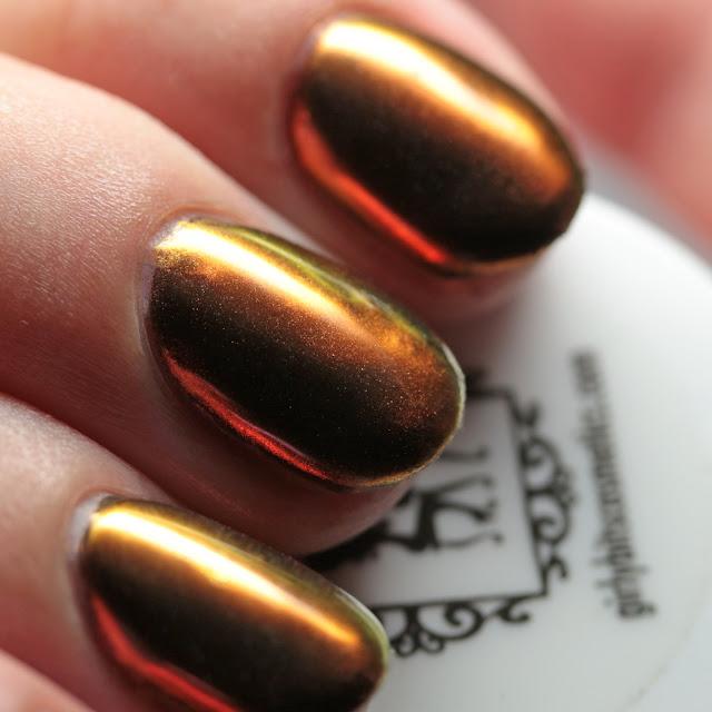 Girly Bits Cosmetics SFX Multi-Chrome Powder Sorcery over black gel