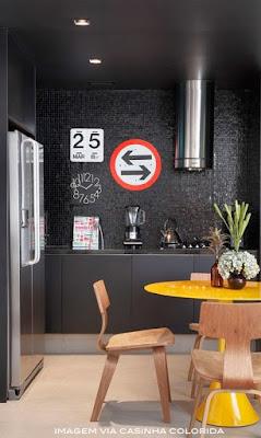 modelos de armário pretos para cozinha