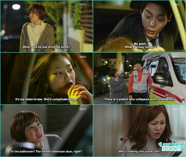 Seol ok while coming back home saw the ambulance which was here for a constipation patient who fanit in the bathroom -   seung Queen of Mystery: Episode 2