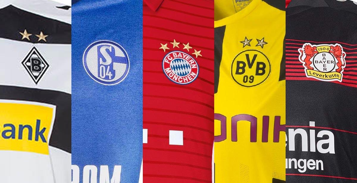 2016 17 bundesliga trikot bersicht alle 16 17 trikots for Bundesliga trikots