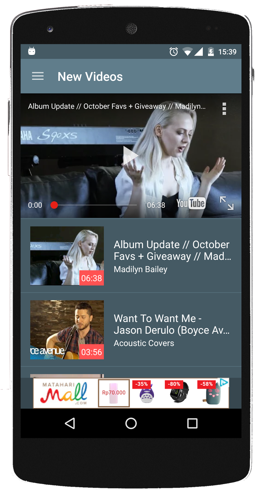 android video player app source code