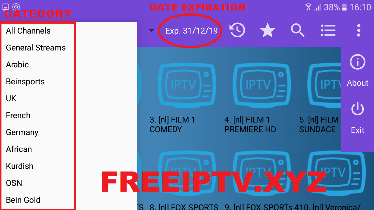 Download IPTV Player Pro APK Full v1.1 for free for Android.built-in player; - favorites and playlists manager;and more