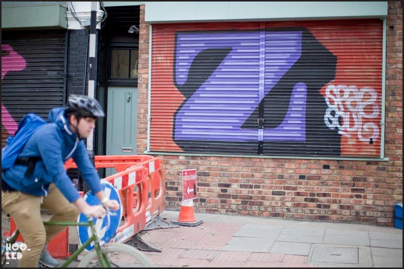 London street and graffiti artist Ben Eine's street art letter shutters in London