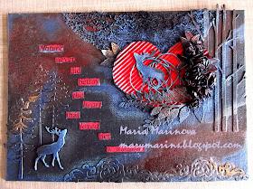 Pure love mixed media canvas by Maria M - marymarins.blogspot.com