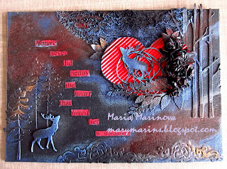 Pure love mixed media canvas by Maria M - marymarins.blogspot.com