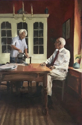 """Teatime"", portrait painting by Philine van der Vegte"