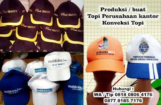 Produksi Topi promosi bahan twill