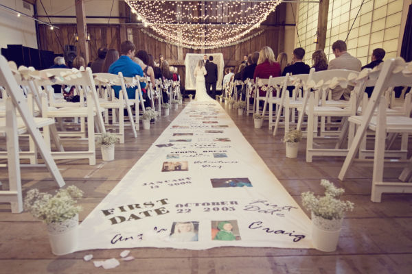 DIY} Personalized Aisle Runner   Oh Lovely Day | Chandra Fredrick