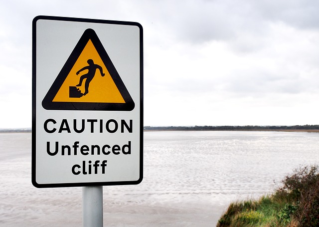 Cliff warning