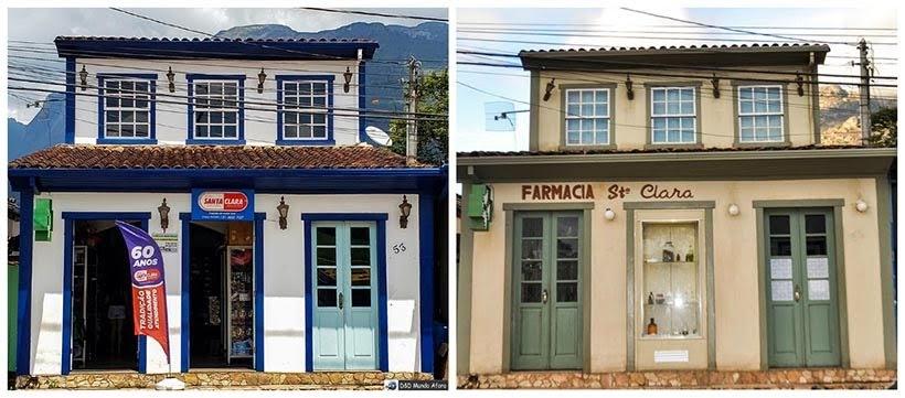 Farmácia de Catas Altas e de São Miguel: minissérie Se Eu Fechar os Olhos Agora. Foto do cenário: Marilane Batista/Ascom