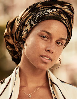 Alicia Keys goes make up less for France's Grazia magazine. See photo spread at JasonSantoro.com