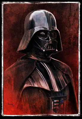 retratos de Star Wars-soldado imperial-darth maul-boba fet-morador de las arenas-darth vader- (2)