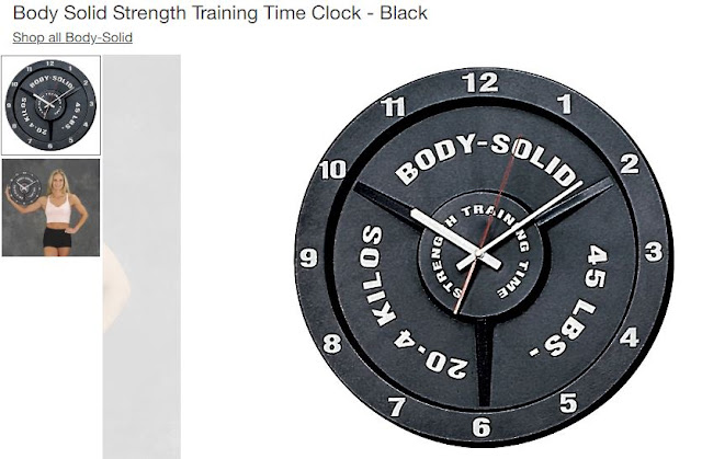 weight plate clock frugal fitness