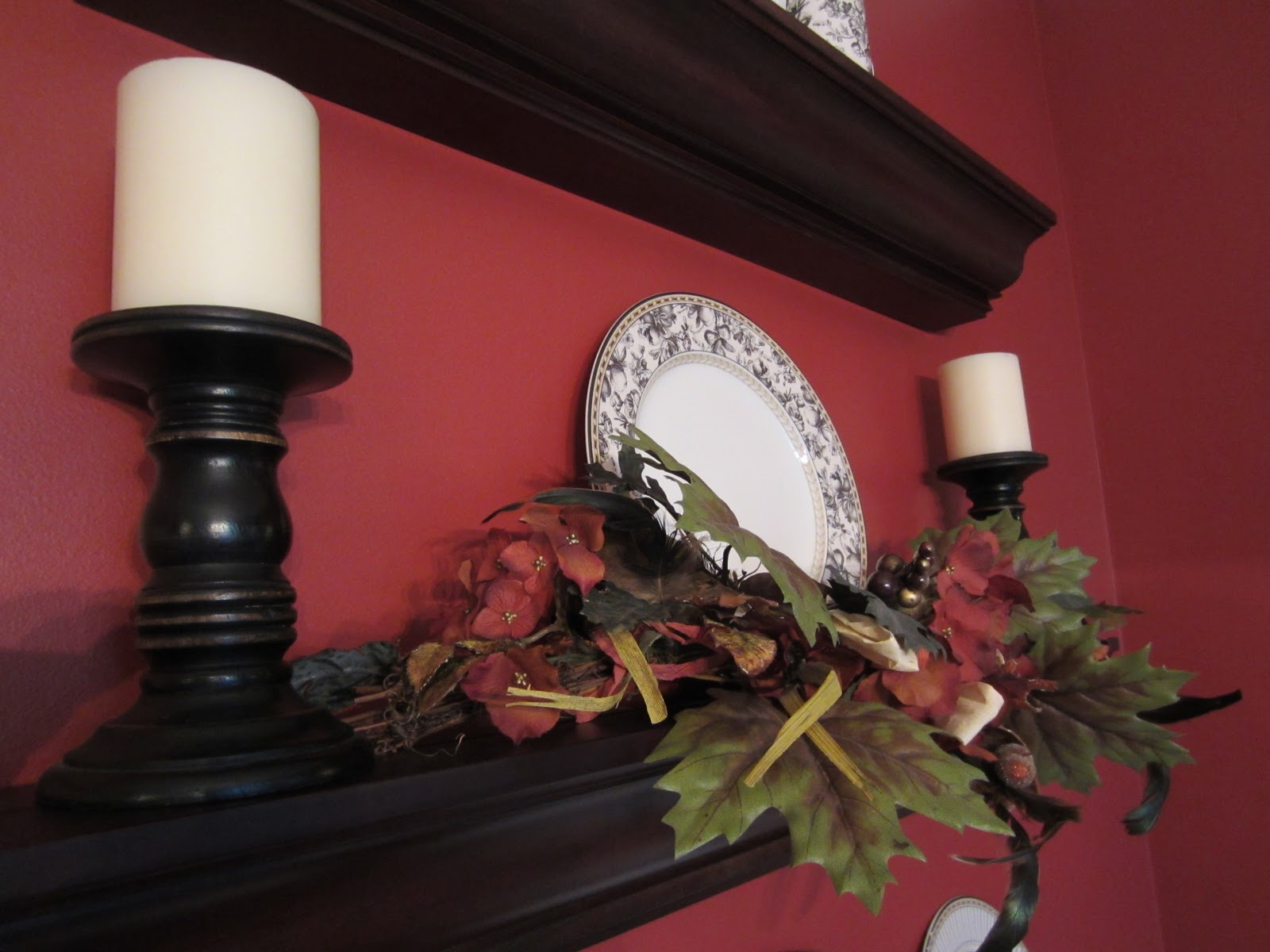 Dining Room Shelves - Fall Fluffing
