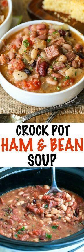 Crock Pot Ham & Bean Soup Recipes