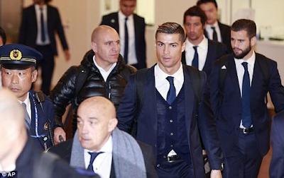 Cristiano Ronaldo, Sergio Ramos, Zinedine Zidane & Real Madrid players arrive Japan for Club World Cup (Photos)