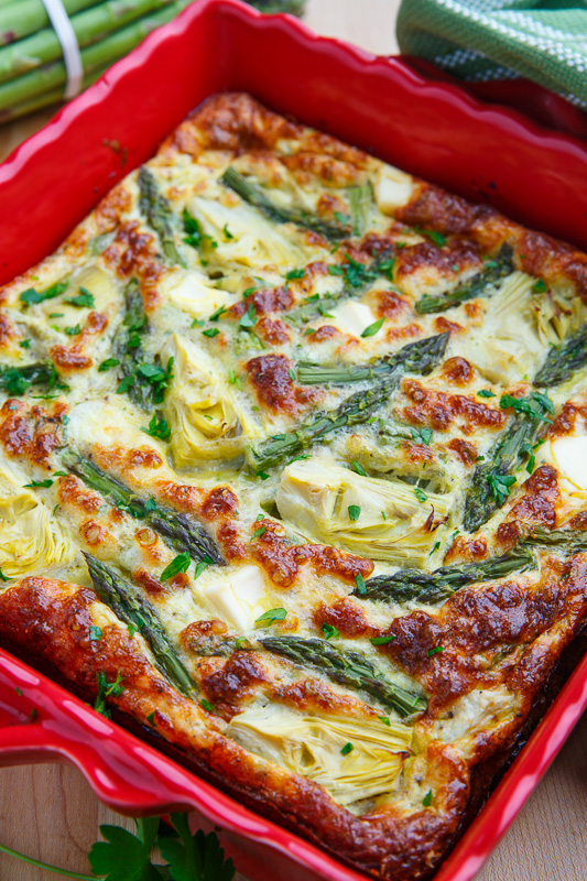 Asparagus and Artichoke Breakfast Casserole