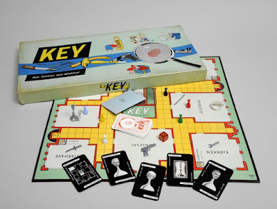 Key, Norwegian Version of the board game Cluedo, published by N.W. Damm, Oslo, 1953