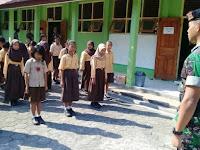 Satgas TMMD Kodim Bantul Latih Pramuka SD Lemah Rubuh
