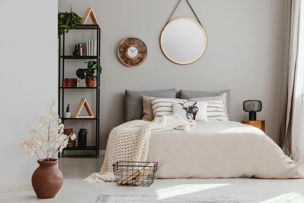 ściana za łóżkiem inspiracje
