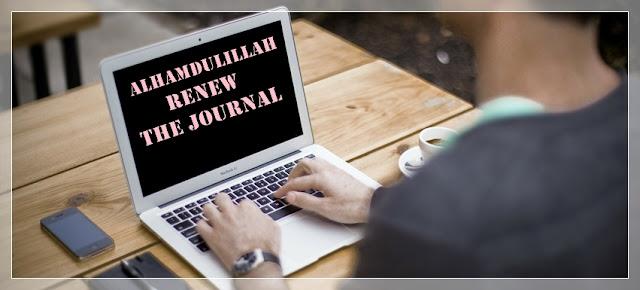 Alhamdulillah, domain jurnal dah di renew...