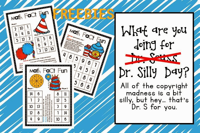 Lory\'s 2nd Grade Skills: Dr. Seuss Celebration FREE Game Boards