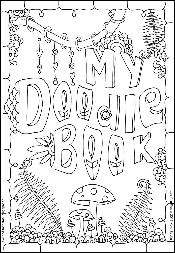 My Doodle Book Cover Page 2016