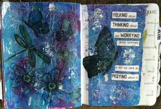 Mixed Media Bible Journal Page by Lynn Shokoples