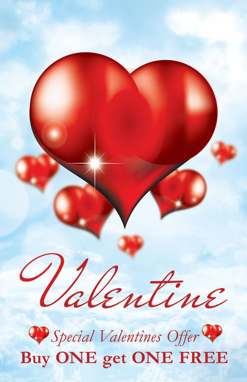 Romantic Valentine's Day Card Templates For Photoshop