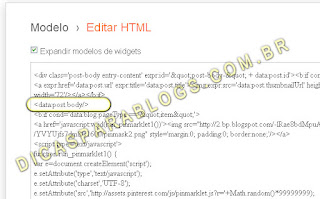 achar trecho post.body no html do blogger