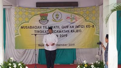 Pelaksanaan MTQ Ke-8 Tingkat Kecamatan Rajeg Hari Ini Di Gelar