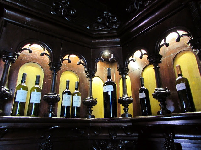 garrafas antigas expostas no museus Ramos Pinto
