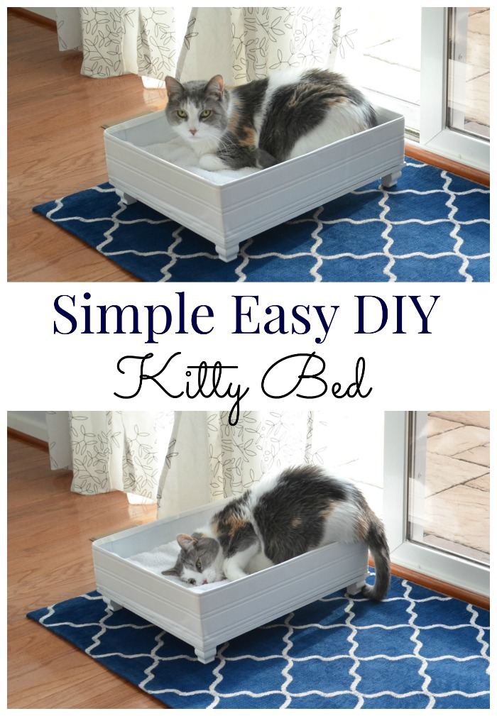 Simple Easy DIY Kitty Bed