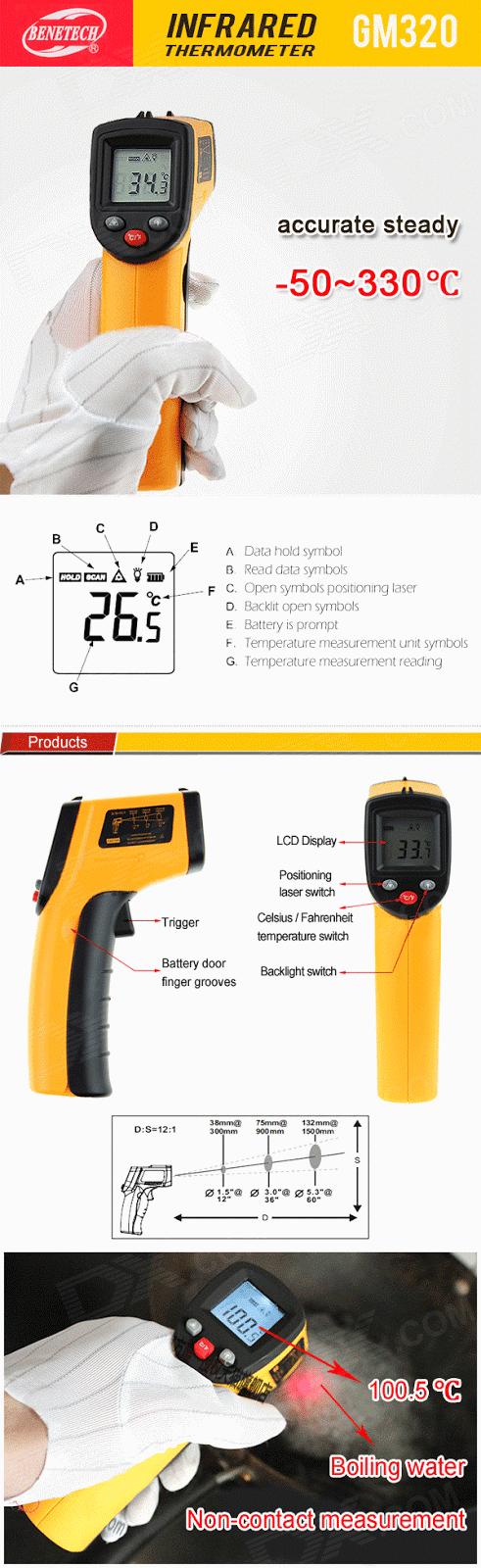 Súng đo nhiệt độ Benetech GM 320
