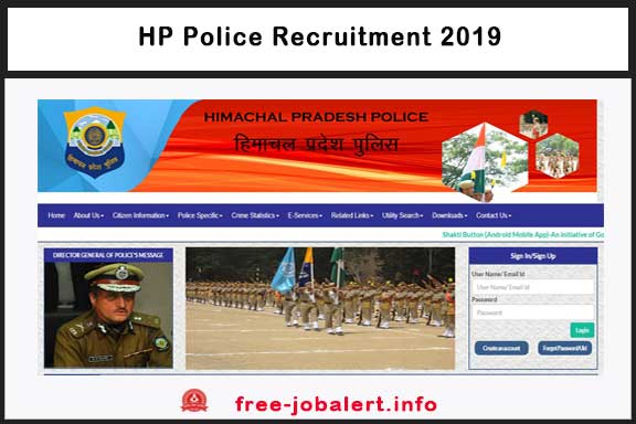 HP Police Recruitment 2019: Notification of Recruitment 1063 Constable, Last Date April 30, 2019