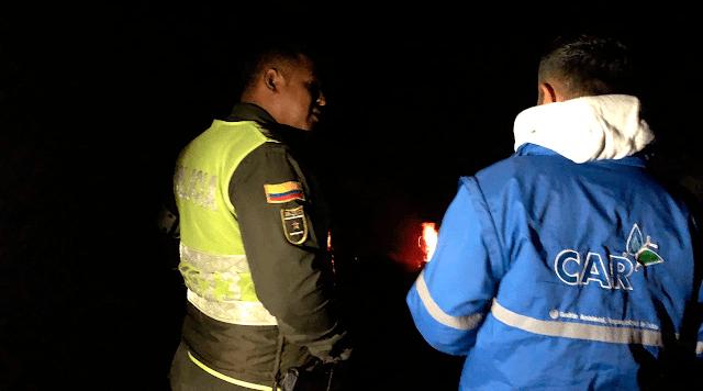 Operativo en flagrancia de quema a cielo abierto en el cerro Manjuí deja una persona detenida