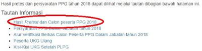 menu calon peserta ppg